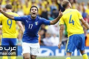 مباراة ايطاليا والسويد فى تصفيات كأس العالم 2018 روسيا | شبكة عرب مصر