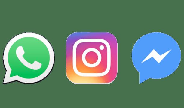 Image result for Messenger Instagram Whatsapp