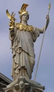 رمز البومة اسفل آلهة آثينا