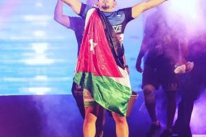 Abdulkareem Al Selwady after his brave win against rami aziz