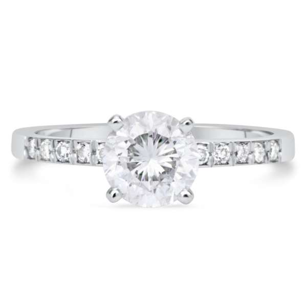 1.50 Ct Round Cut DSi1 Diamond Solitaire Engagement Ring 18K White Gold 2