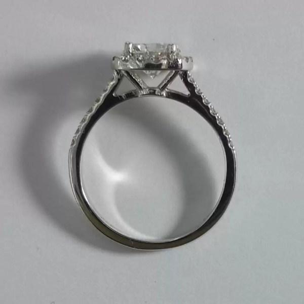 1.86 Carat Round Cut Diamond Engagement Ring 18K White Gold 3