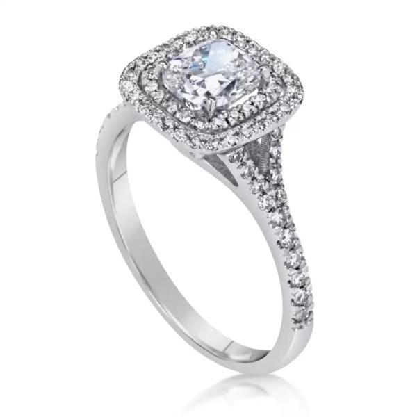 2 Carat Round Cut Diamond Engagement Ring 18K White Gold 2