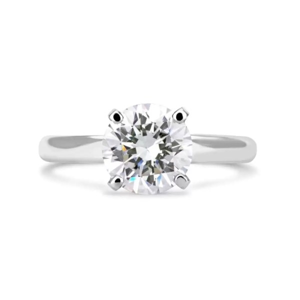 2.00 Ct Round Cut F Vs2 Diamond Solitaire Engagement Ring 14K White Gold 4