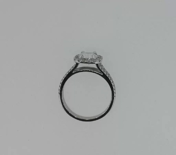 2.05 Carat Round Cut Diamond Engagement Ring 18K White Gold 3