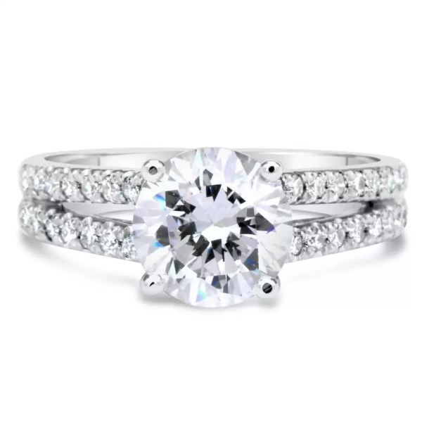 2.20 Ct Round Cut DSi1 Diamond Solitaire Engagement Ring 14K White Gold 4
