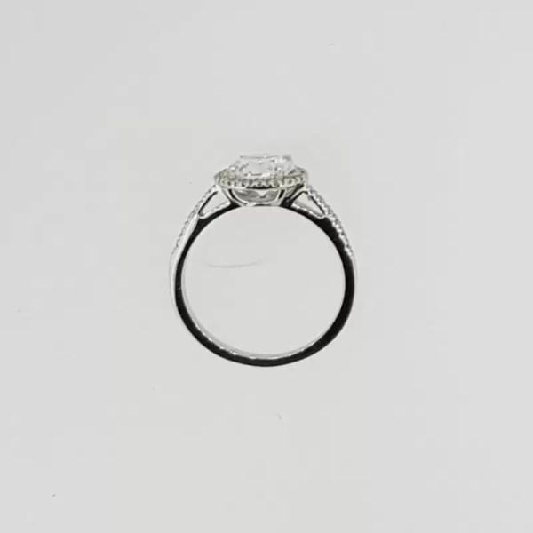 2.3 Carat Round Cut Diamond Engagement Ring 18K White Gold 3
