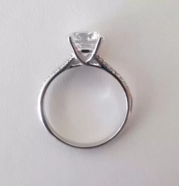 2.50 Ct Round Cut Si1 Diamond Solitaire Engagement Ring 14K White Gold 4