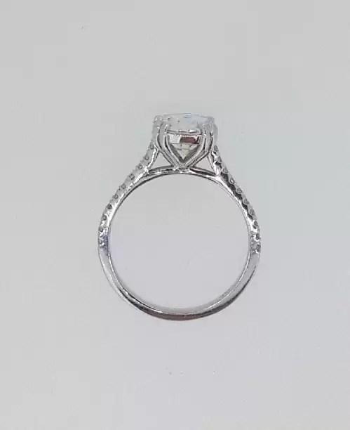 2.52 Carat Round Cut Diamond Engagement Ring 14K White Gold 4