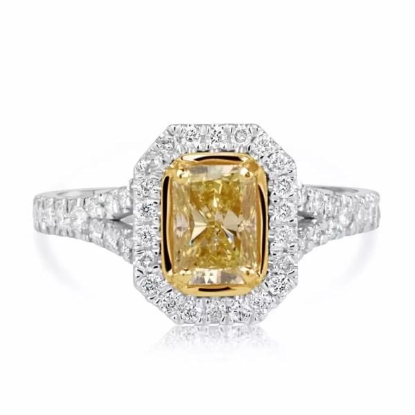 3.5 Carat Radiant Cut Diamond Engagement Ring 18K White Gold 2