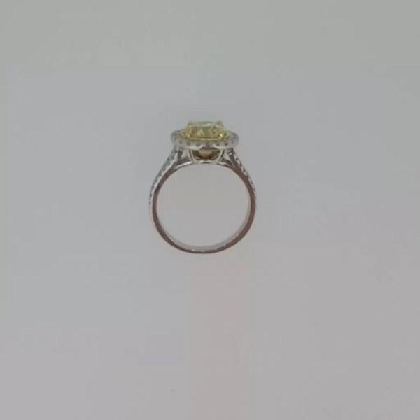4.5 Carat Round Cut Diamond Engagement Ring 18K White Gold 4