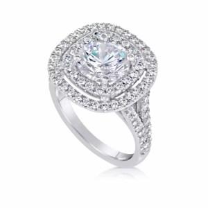 4.52 Carat Round Cut Diamond Engagement Ring 18K White Gold