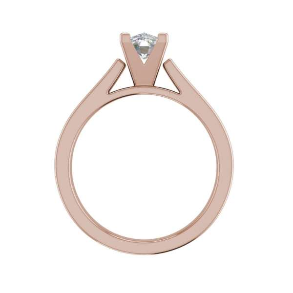 Cathedral 2.5 Carat VS2 Clarity H Color Oval Cut Diamond Engagement Ring Rose Gold 2