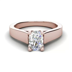 Cathedral 2.5 Carat VS2 Clarity H Color Oval Cut Diamond Engagement Ring Rose Gold 3