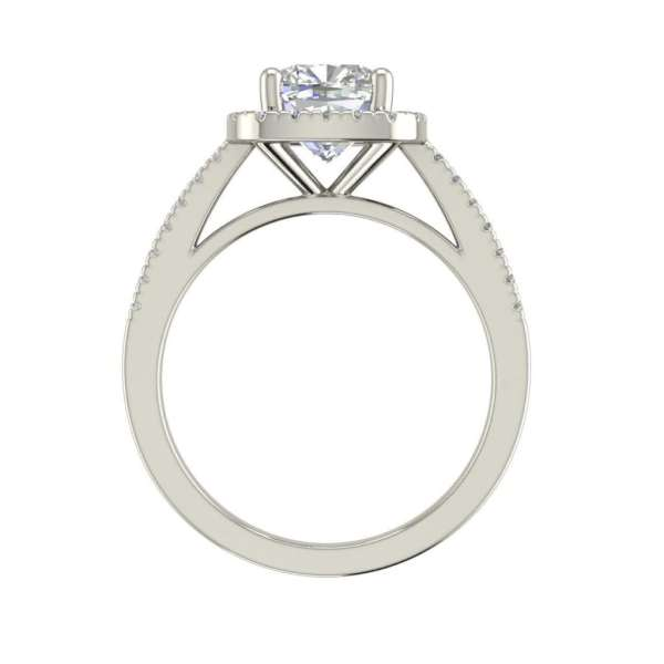 Halo 3.2 Carat VVS1 Clarity D Color Cushion Cut Diamond Engagement Ring White Gold 2