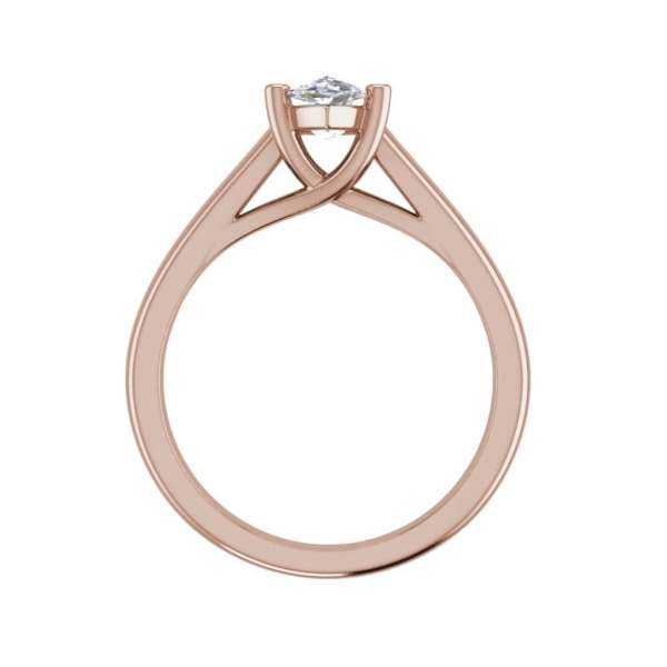 Solitaire 0.5 Carat VVS1 Clarity D Color Marquise Cut Diamond Engagement Ring Rose Gold 2