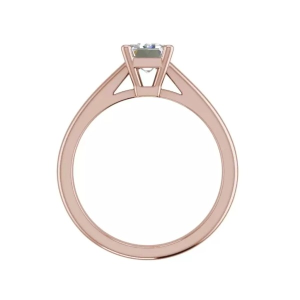 Solitaire 1.75 Carat VS2 Clarity F Color Emerald Cut Diamond Engagement Ring Rose Gold 2