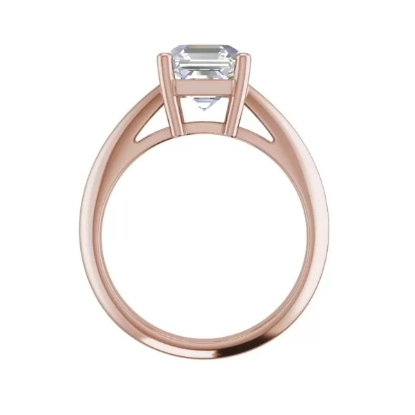 Solitaire 2 Carat VS2 Clarity H Color Cushion Cut Diamond Engagement Ring Rose Gold 2