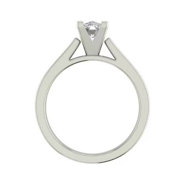 Cathedral 1.75 Carat VS2 Clarity H Color Oval Cut Diamond Engagement Ring White Gold 2