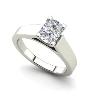 Cathedral 2.5 Carat VS1 Clarity F Color Oval Cut Diamond Engagement Ring White Gold