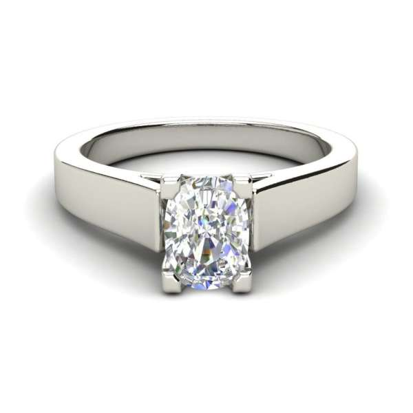 Cathedral 2.5 Carat VS2 Clarity H Color Oval Cut Diamond Engagement Ring White Gold 3