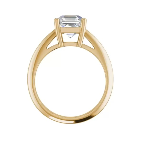 Solitaire 2 Carat VS2 Clarity H Color Cushion Cut Diamond Engagement Ring Yellow Gold 2