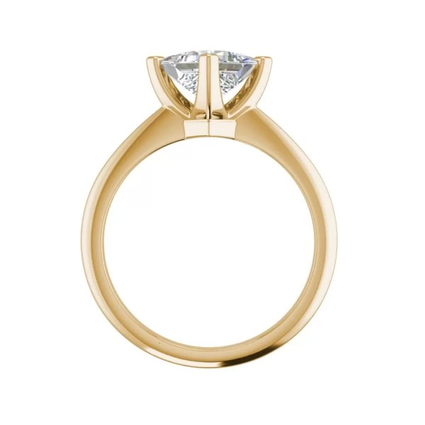 4 Prong 3 Carat SI1 Clarity D Color Princess Cut Diamond Engagement Ring Yellow Gold 2]