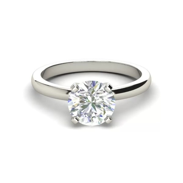 Round Cut Solitaire 0.5 Carat Diamond Ring