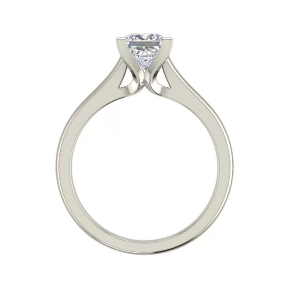 Solitaire 0.5 Carat Princess Cut Diamond Ring White Gold