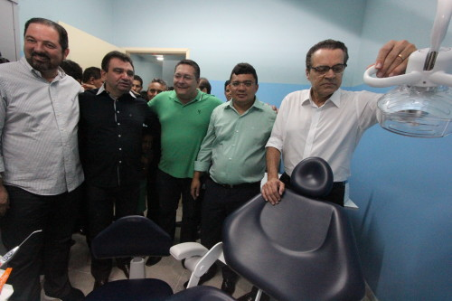 Ao centro Kerginaldo e Henrique com o ex-prefeito Flávio Veras e o deputado Ezequiel