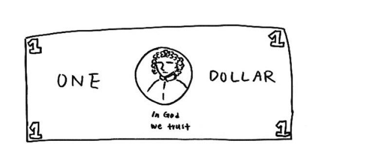 صورة ترسيمية لورقة 1 دولار