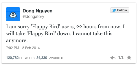 خدعوك فقالوا: كُن مبدعاً ... عن لعبة Flappy Bird