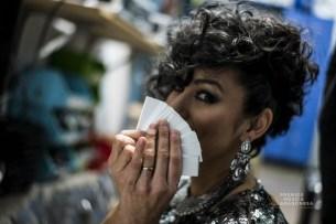 Karla Zulema. Momentos antes de la gala. Foto, Marcos Cebrián