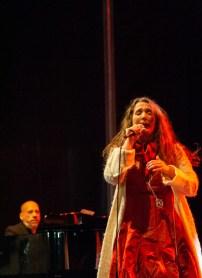 Dulce Pontes el 10 de octubre de 2018. Fotos, Ángel Burbano