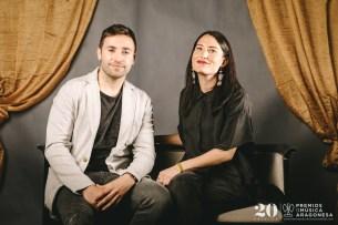 Carolina Ferrer y David Arenere (Aragón en Abierto de Aragón Tv). Foto, Jal Lux