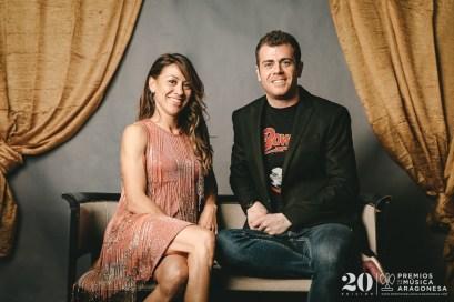 Isabel Macías y Jorge San Martín. Foto, Jal Lux