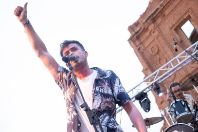 UV Ultravioleta. Belchite Music Night. 22/6/19. Foto, Luis Lorente