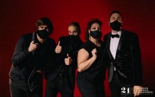 Luis Cebrián, Sergio Falces, Irene Alquezar y David Chapín. 21º Premios de la Música Aragonesa. Foto, Jal Lux