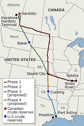 Keystone_pipeline_route