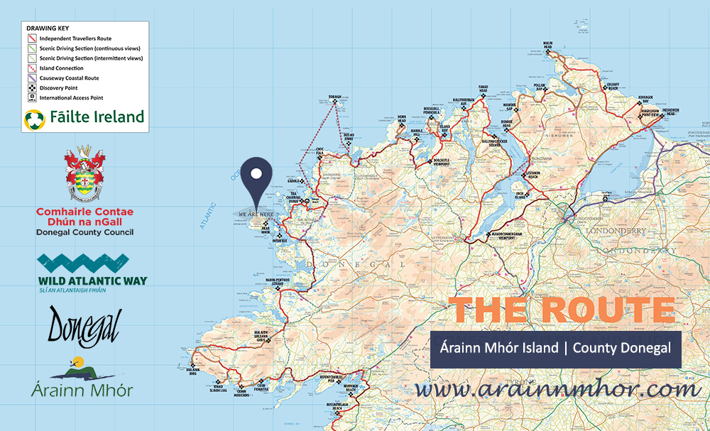 Image result for arranmore island donegal map wild atlantic way