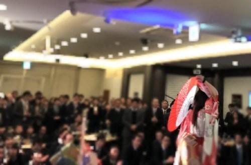 新横浜 企業様の賀詞交歓会でアトラクション
