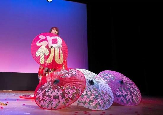 大阪 文楽劇場で和風マジック