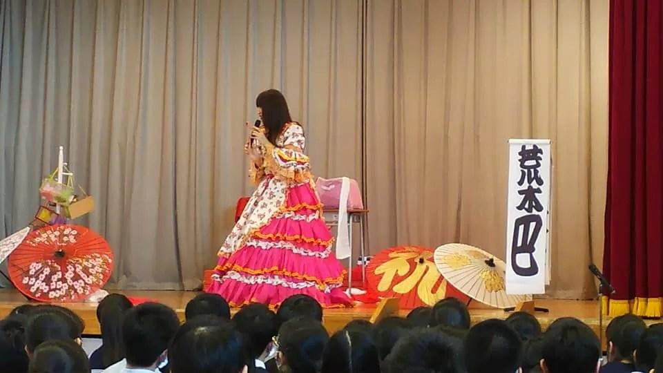 文京区立の中学校で落語会