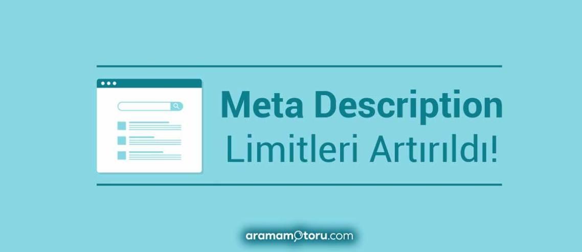 Meta Description Artık 300 Kelime!