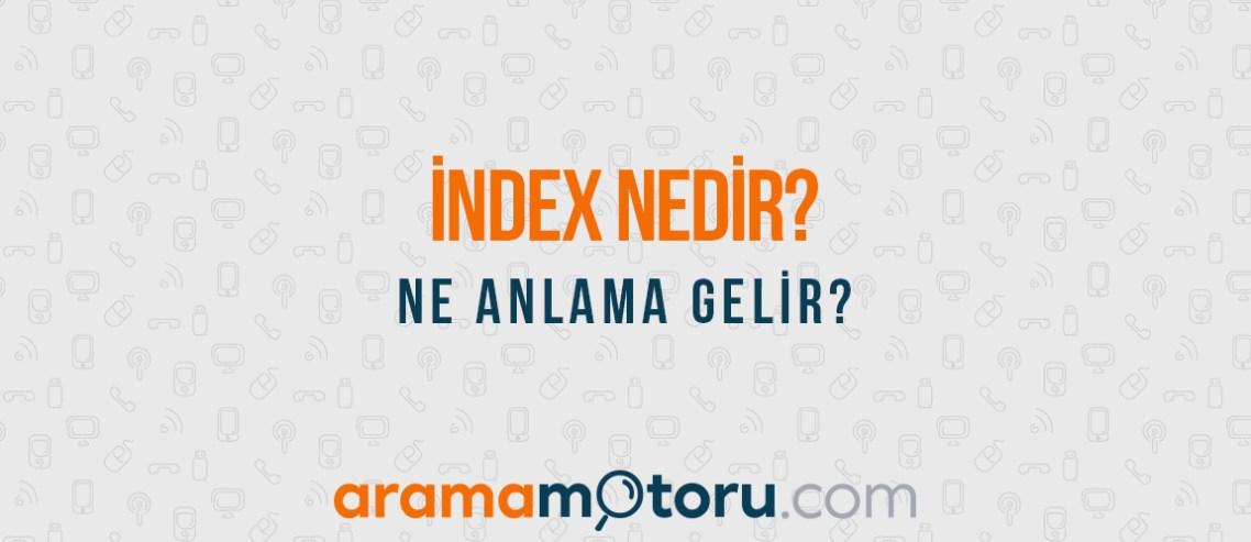 index nedir