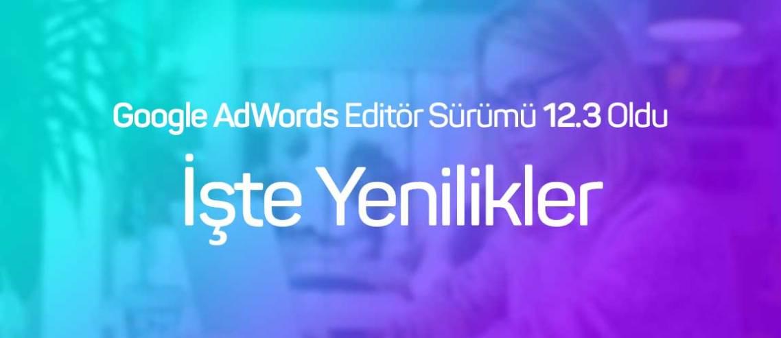 Google AdWords Editör Sürümü 12.3 Oldu: İşte Yenilikler