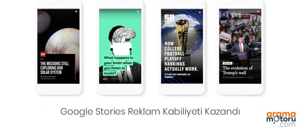 Google AMP Stories (AMP Hikayeler) Reklam Kabiliyeti Kazandı