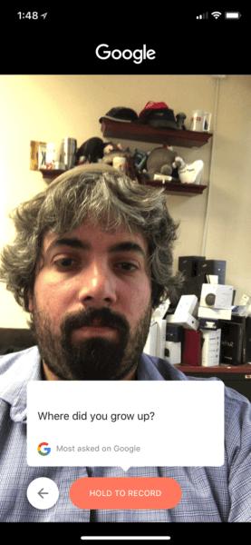 Google Cameos Demo Kayıt Başlangıcı