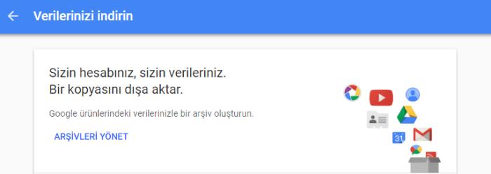 Google Plus Verileri Nasıl İndirilir? - Google Takeout