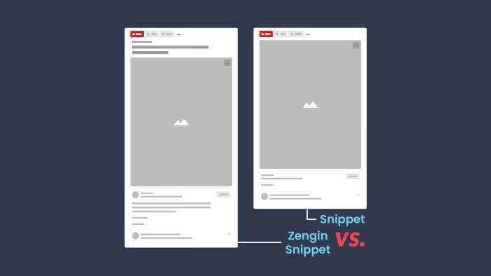 Pinterest zengin snippet v.s snippet
